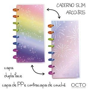 Caderno Slim Arco Iris - Octo