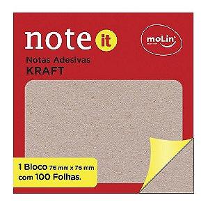 Bloco de Notas Adesivas Eco Kraft - Molin