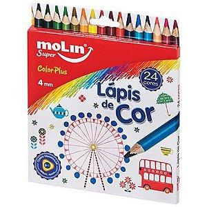 Lápis de Cor Color Plus ( 24 cores) - Molin
