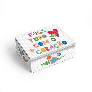 Porta Objetos P Frases coloridas - Fina Ideia