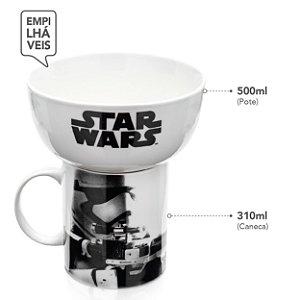 Caneca e Pote SW Império Stormtrooper