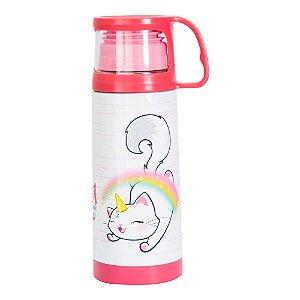 Squeeze térmica com caneca 350 ml- Catcórnio
