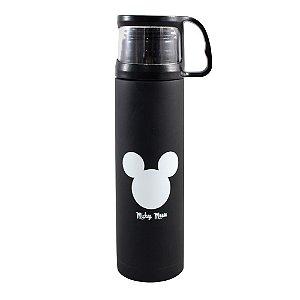 Garrafa com Tampa  Xícara 500 ml Mickey Logo
