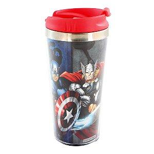 Copo Viagem Com Tampa 450 ml - Avengers