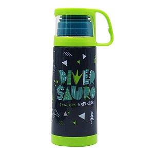 Squeeze Térmica 350 ml Com Caneca - Diversauro