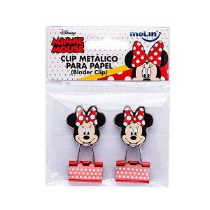 Binder Clip Minnie Bolsa - Kit com 2