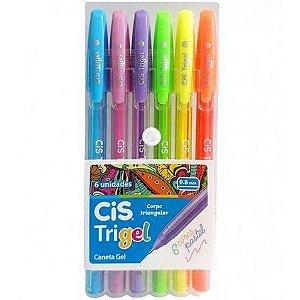 Kit Canetas Cis Trigel com 6 Cores - Pastel