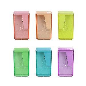 Apontador Plástico com Depósito - Pastel Trend