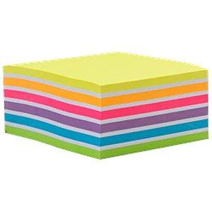 Cubo de Notas Adesivas - 6 Cores Neon+Branco - Molin