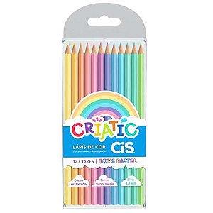 Lápis de Cor - Tons Pastel ( 12 Cores)