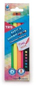 Caneta Hidrocor  Neon  ( 6 Cores) - Tris
