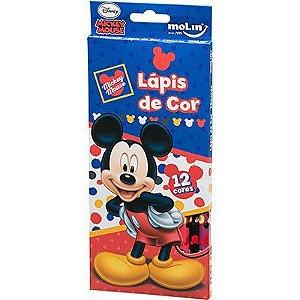 Lápis de Cor  Mickey (12 Cores)-  Molin