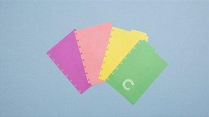 Divisorias Pastel ( A5) - Caderno Inteligente