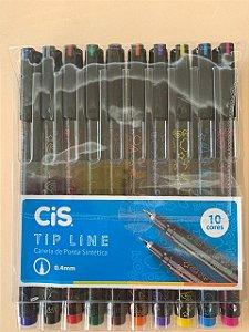 Caneta Cis  Tip Line ( 10 cores) - Cis