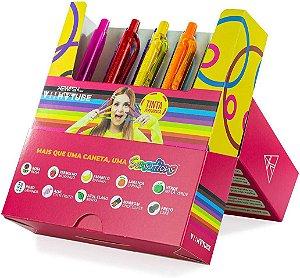 Caneta 1.0 Clic Sensations VII TUBE Tinta Perfumada 10 Cores - New Pen
