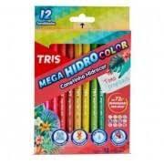Caneta Hidrográfica 12 Cores Tons Tropicais Mega Hidro Color -Tris