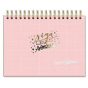 Caderno de Lettering  Rosa (fls.brancas ) Fina Ideia