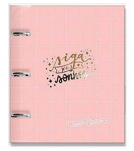 Caderno Argolado ( Fichário ) Rosa - Fina Ideia