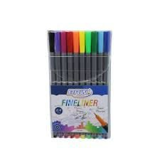 Caneta Fineliner ( 10 Cores) 0.4mm - BRW