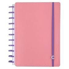 Caderno Rose Pastel + Grande +