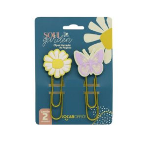 Clips Soul Garden Flor + Borboleta - Jocar Office