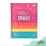 Caderno Espiral Dreams Merci Tamanho Colegial