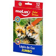 Lápis de cor Jumbo Color Dream (  12 cores) - Molin