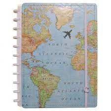Caderno By Gocase Mapa Mundi  ( A5)