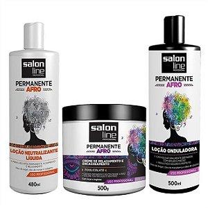 Kit Permanente afro Salon Line (3 produtos)