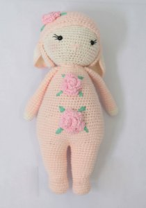 Boneca Holly Ratinha rosa - Amigurumi