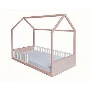 Cama Montessori Solteiro 3 em 1 Rosé Puppi