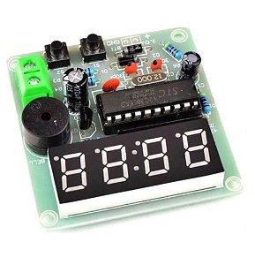Kit Relógio Eletrônico com Alarme STC12C2052 DIY