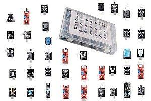 Kit 37 Módulos e Sensores para Arduino
