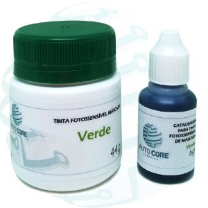 Tinta Fotossensível Verde para Máscara de Circuito Impresso + Catalisador - 50g