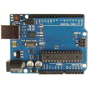 Arduino Uno R3 Compatível + Cabo USB + Case em MDF