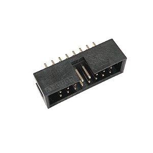 Conector Box Header 16 Vias 180 Graus