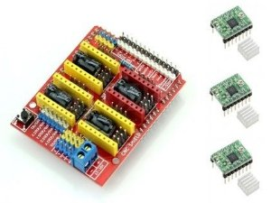 Kit CNC V1 - Shield CNC + Drivers A4988
