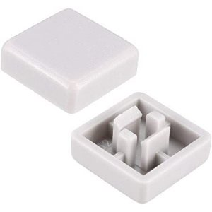 Capa Quadrada para Chave Táctil 12x12x7.3mm Branca