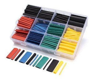 Kit Espaguete Termo Retrátil Colorido 530pcs + Organizador Plástico