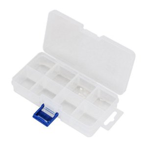 Caixa Organizadora com 8 Divisórias 13.7x6.8x2.8cm
