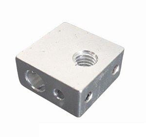 Bloco Aquecedor de Aluminio MK8 para Impressora 3d