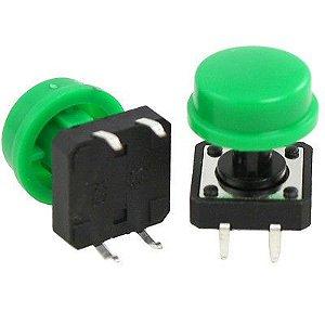 Chave Táctil 12x12mm com Capa Verde