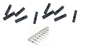 Conector Crimp/Conector Macho para Wire Jumper Dupont - Acompanha 10 pcs