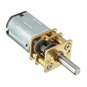 Micro Motor 12V DC N20 100RPM com Caixa de Redução