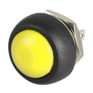 Push Button Pulsante 12mm Impermeável Amarelo