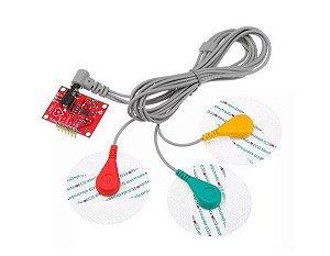 Módulo Sensor Cardíaco ECG AD8232 com Eletrodos