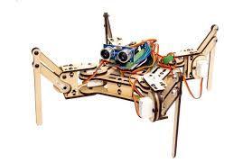 Robô Aranha Quadrupede Estrutura em MDF