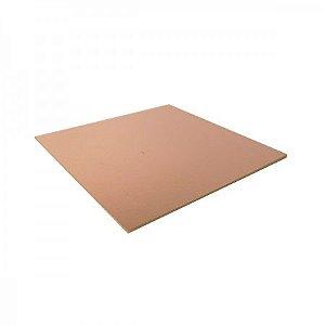Placa Fenolite Cobreada Face Simples 10x10 cm
