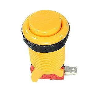Botão Fliperama Arcade + Microswitch + Rosca Amarelo