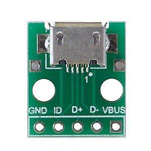 Módulo Adaptador Micro Usb Fêmea para DIP
